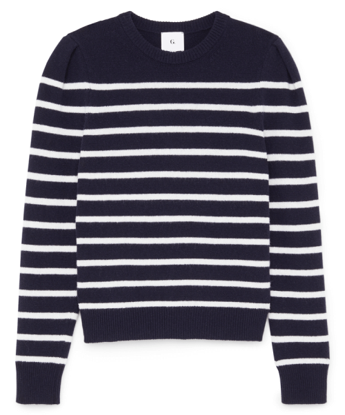 G. Label ANTONIADIS PUFF-SLEEVE MARINER SWEATER