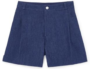 G. Label             summer wide-leg denim short