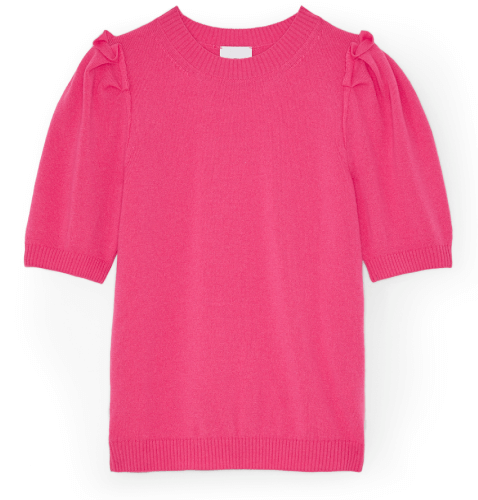 G. Label SHELBY SHORT-SLEEVE PUFF SWEATER
