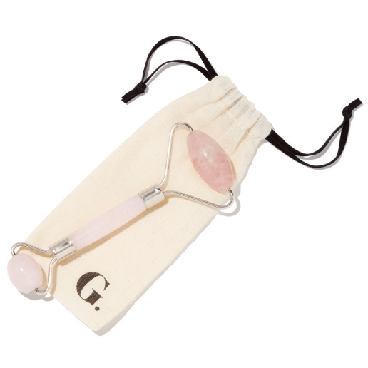 goop Beauty Rose Quartz Soothing Face Massage Roller