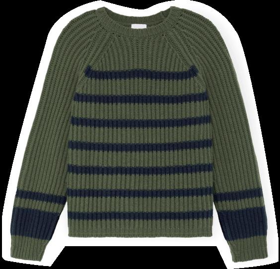G. Label miya stand-collar rib sweater