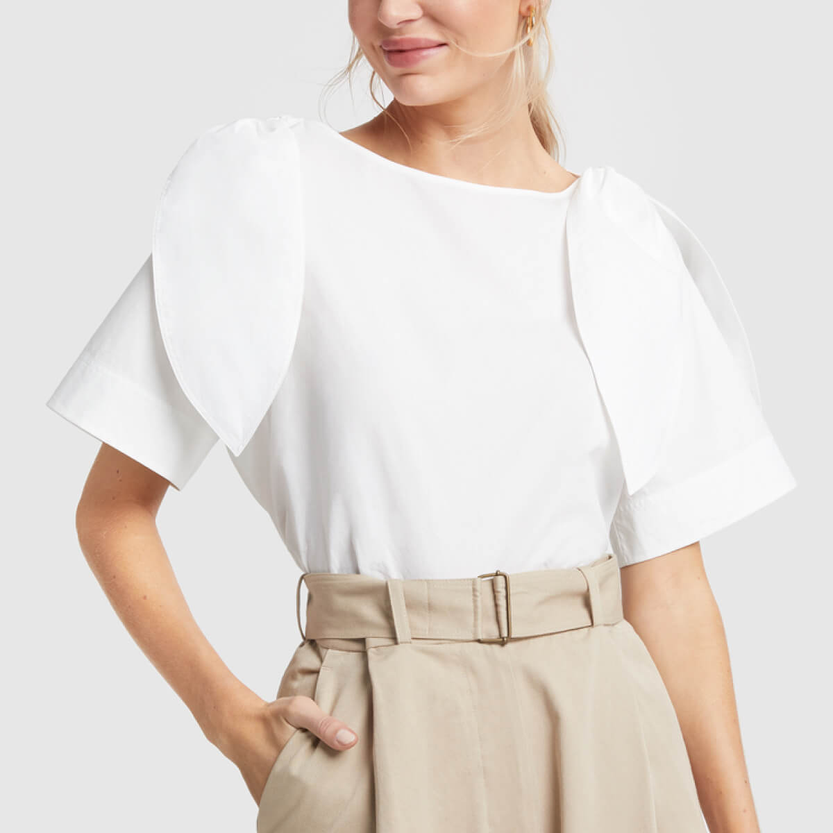 g. label KALEI TIE-SHOULDER TOP
