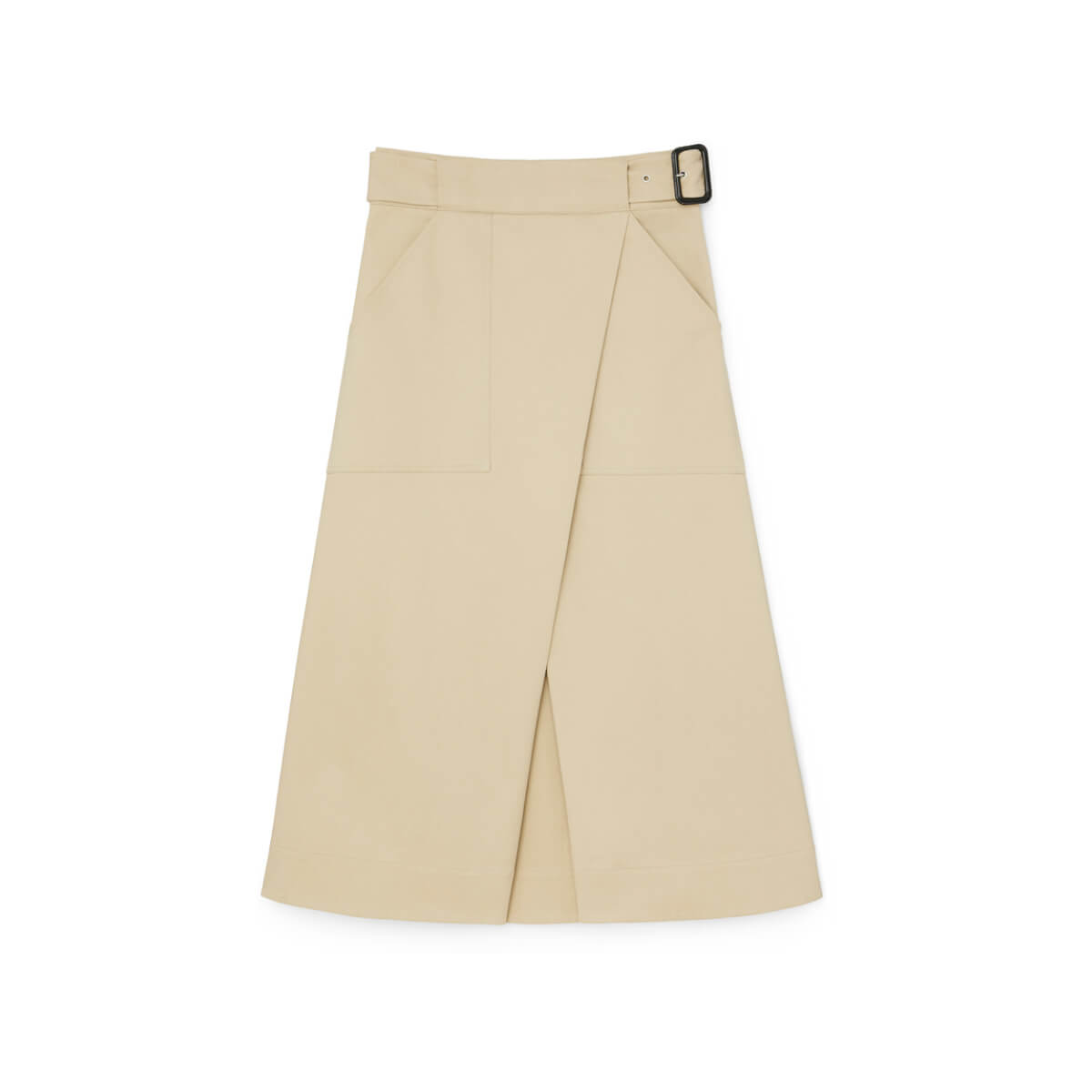 G. LABEL HALL COTTON WRAP SKIRT