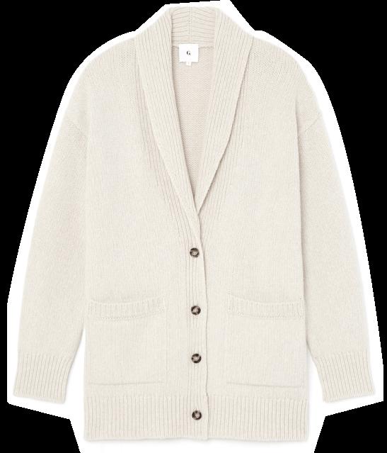 G. Label lana shawl-collar cardigan
