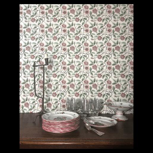 """Antoinette Poisson """"Buisson de Roses"""" Wallpaper"""