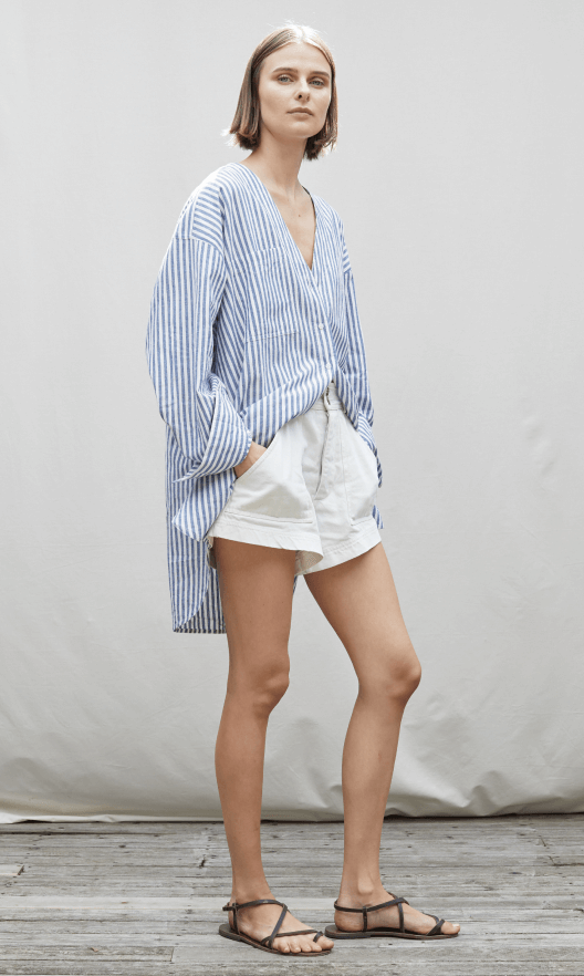 Apiece apart, button up and short