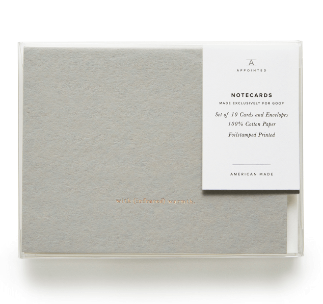 goop x Appointed, goop Exclusive Notecards with (Infrared) Warmth, Set of 10