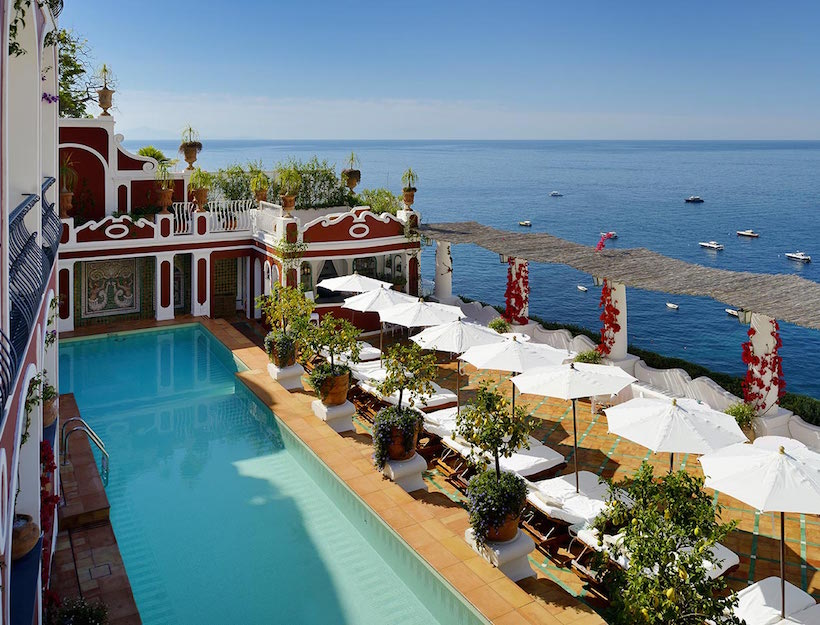 Le Sirenuse <br>Pantai Amalfi, Itali</em>