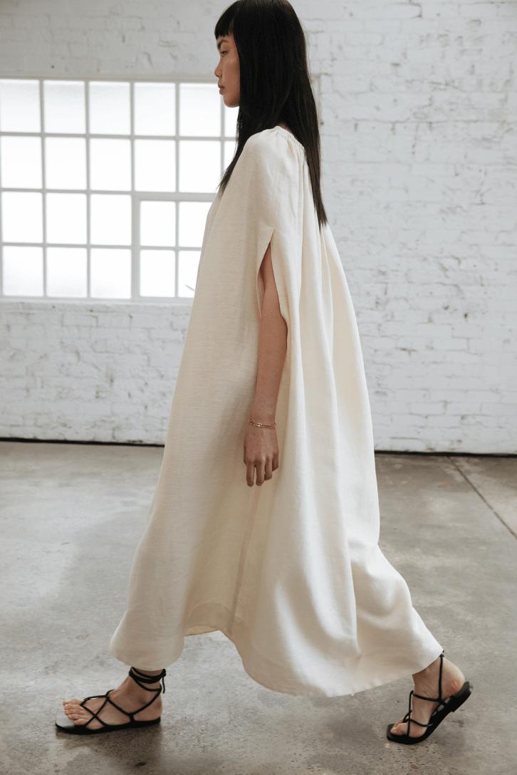 model walking with dress