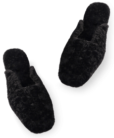 black shearling Sleeper slippers