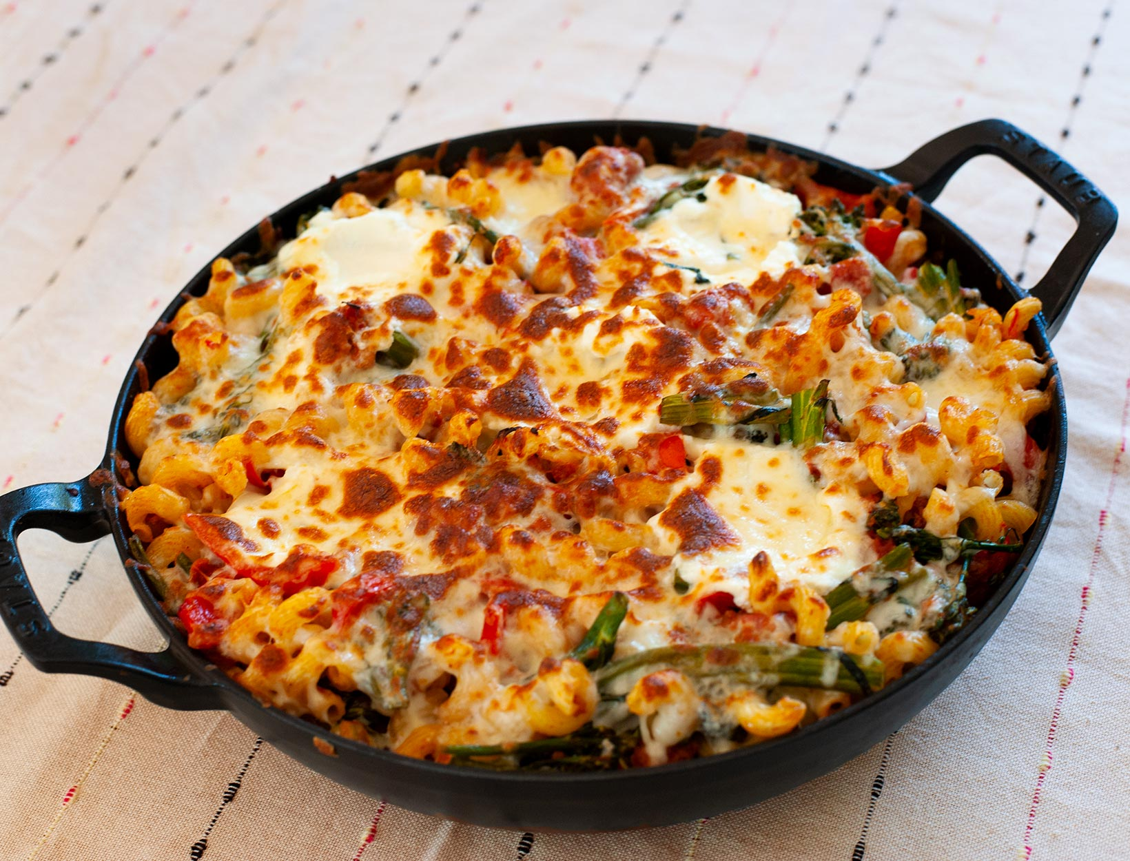 Baked Ziti with Sausage, Peppers, and Broccoli Rabe