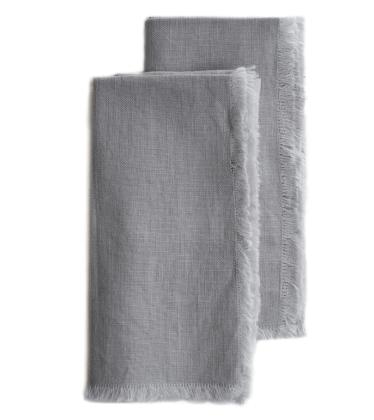 RW Guild Original Design Light Grey Linen 16″x16″ Napkin Set of 2