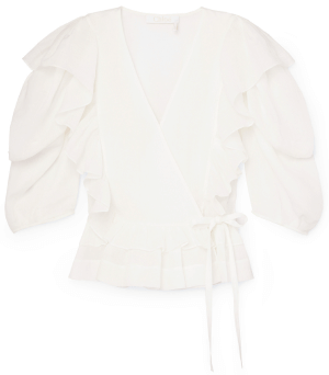 white Chloé top