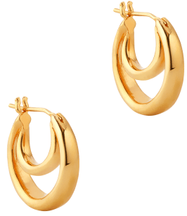 Sophie Buhai SMALL GOLD DOUBLE HOOP EARRINGS