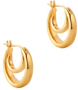 Sophie Buhai SMALL GOLD DOUBLE HOOP EARRINGS