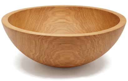 Stinson Studios Natural Oak Serving Bowl