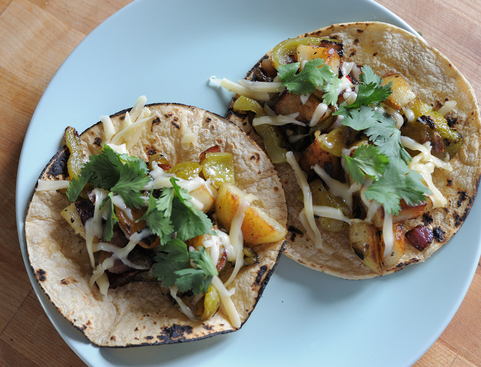 Potato and Pepper Tacos