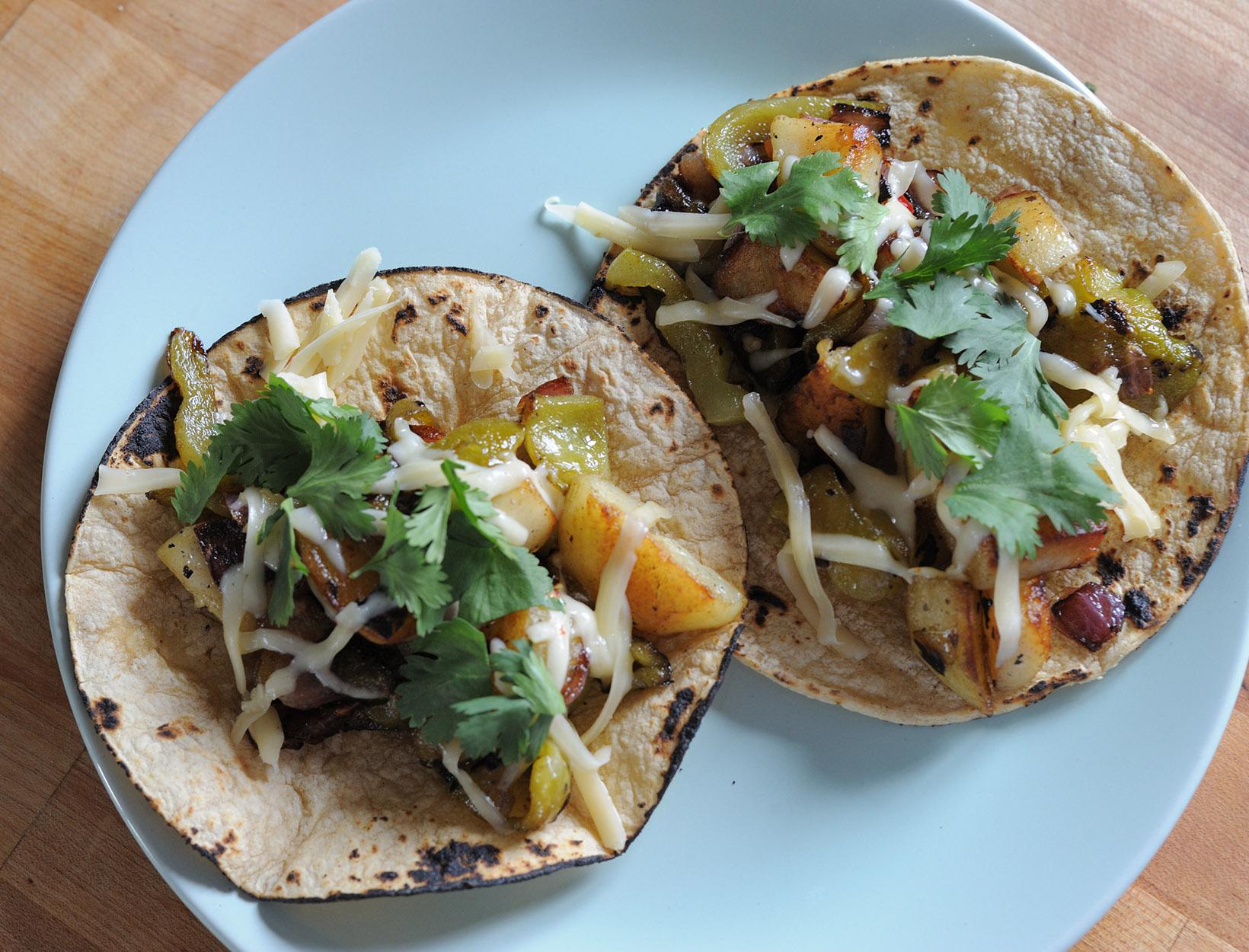 Potato and Pepper Tacos
