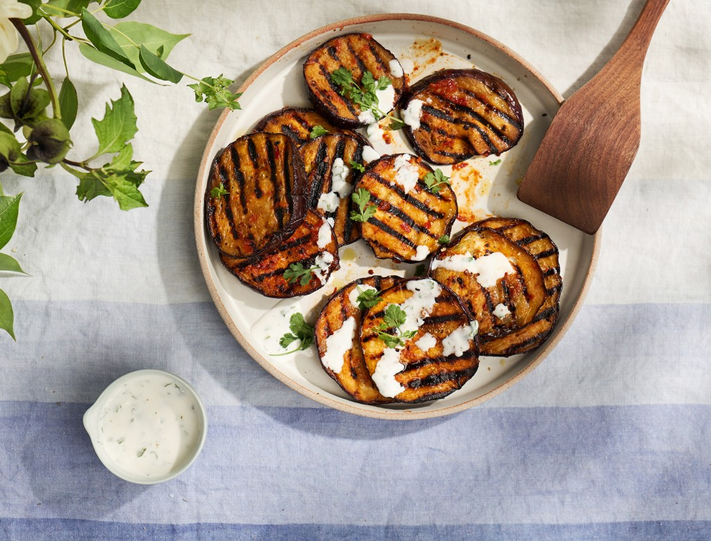 Harissa-Grilled Eggplant