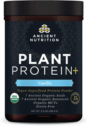 Ancient Nutrition Vanilla Plant Protein+