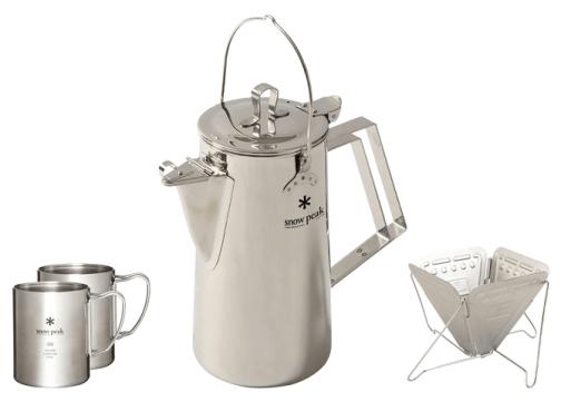 Snow Peak camping coffee set