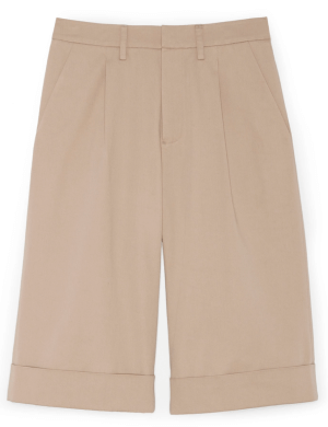 G. Label JUSTIN PLEATED WIDE-LEG SHORTS