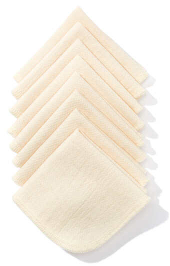 Natural Linens Boutique Organic Cotton Dish Cloths, Set of 8