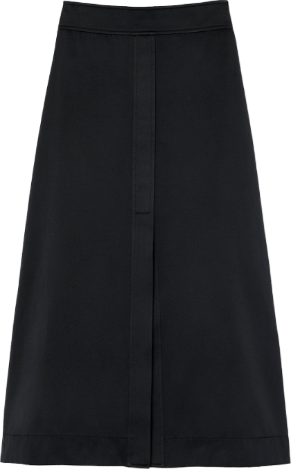 G. Label STEWART A-LINE DOUBLE-SATIN SKIRT