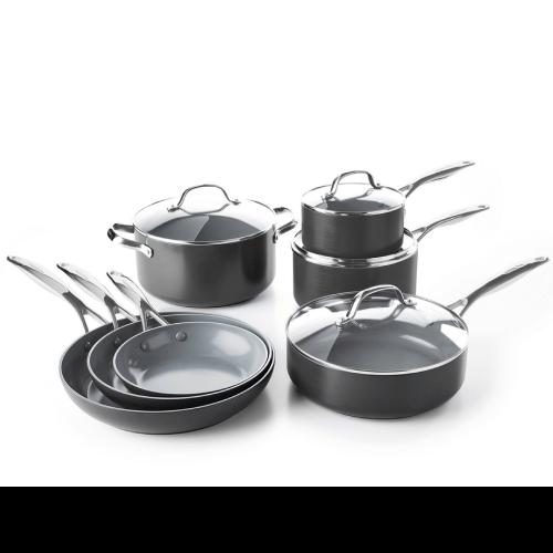 GreenPan Valencia Pro Ceramic Non-Stick Cookware, 11-Piece Set