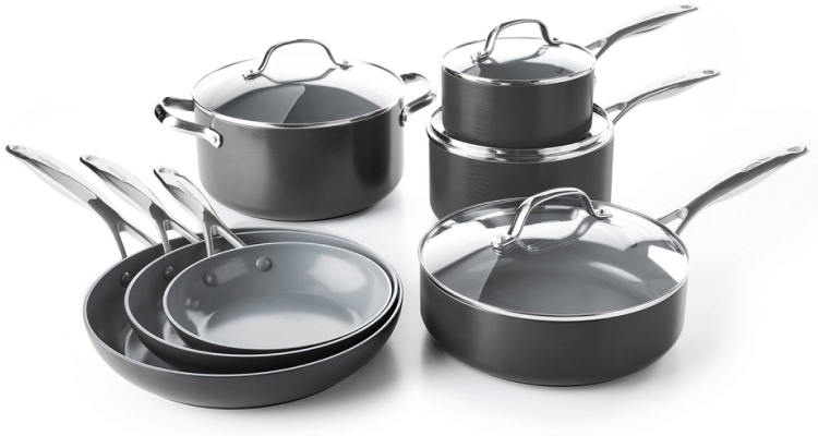 GreenPan Valencia Pro Ceramic Non-Stick Cookware, 11-Piece Set