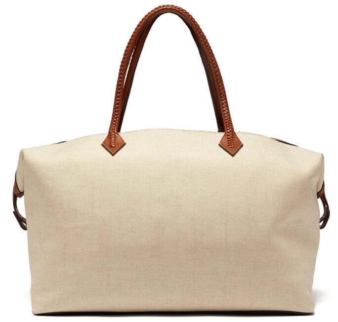 white duffel bag