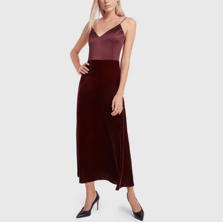 g. label burgundy dress