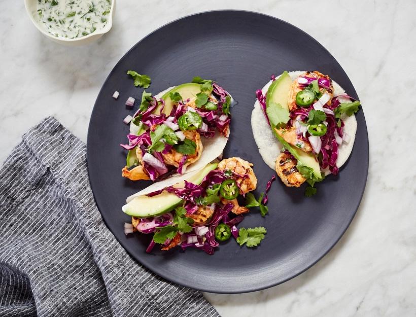 Jicama Shrimp Tacos
