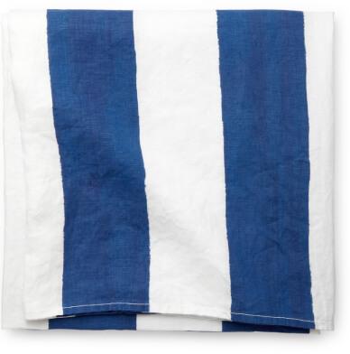 Summerill & Bishop Blue & White Striped Tablecloth
