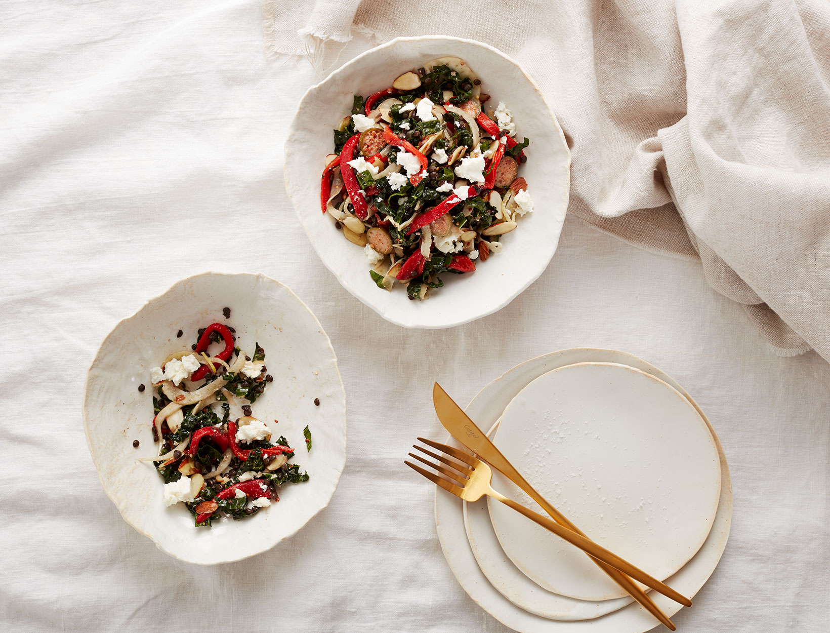 Lentil, Kale, and Piquillo Pepper Salad
