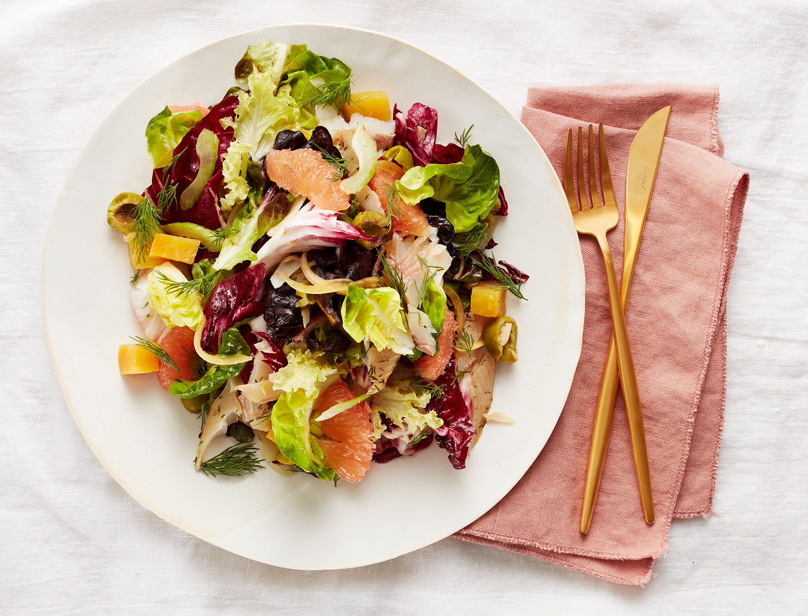 Smoked Trout Salad with Grapefruit and Beets