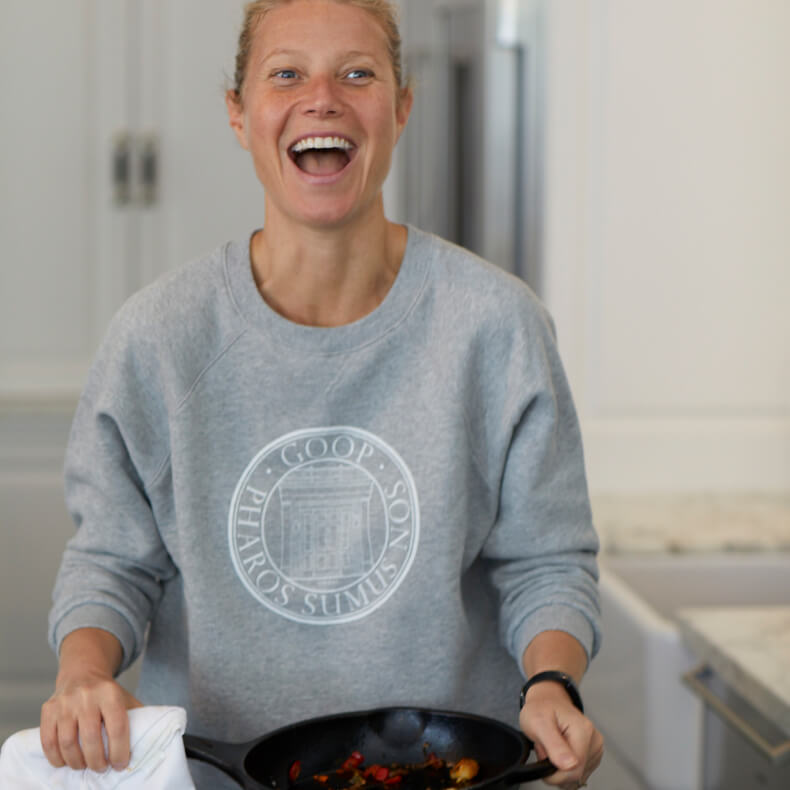 Goop university sweatshirt