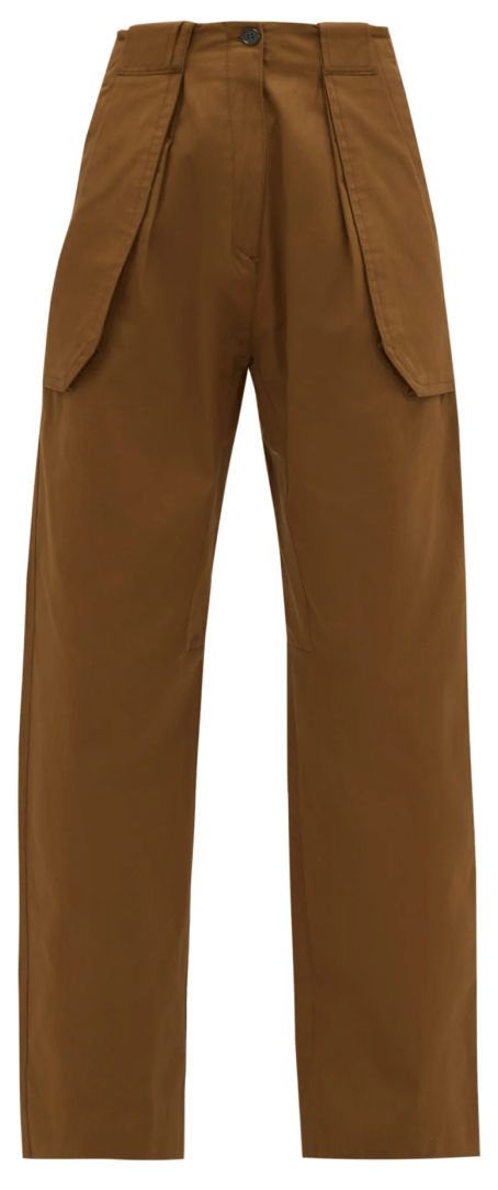 JOSE WIDE-LEG COTTON-BLEND CARGO TROUSERS