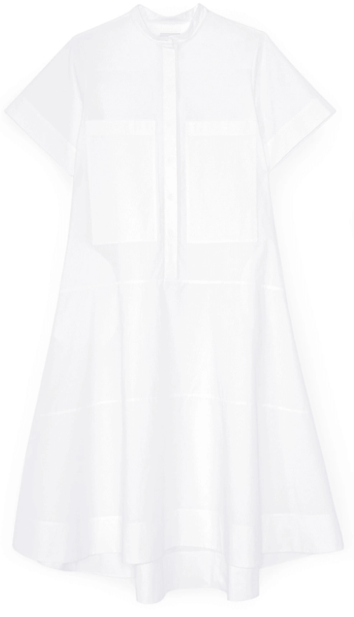 G. Label MENDOZA DROPPED-WAIST SHIRTDRESS
