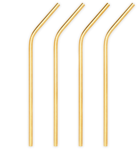 Viski GOLD STAINLESS STEEL COCKTAIL STRAWS