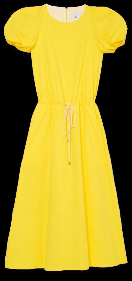 G.Label Zelda Rounded-Sleeve Drawstring Dress