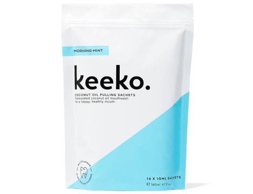 Keeko MORNING MINT OIL PULLING SACHETS
