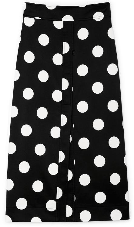 Glabel Danielson A-Line Polka-Dot Skirt
