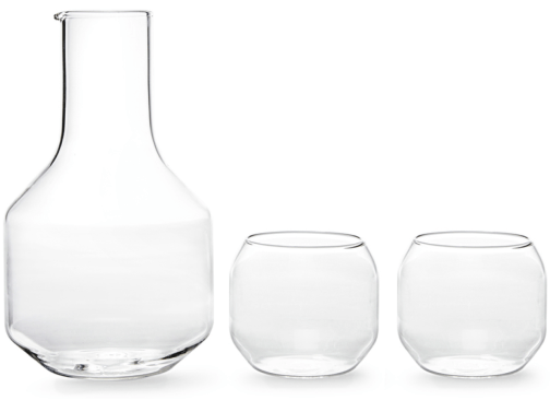 R + D Design Lab carafe & glasses set