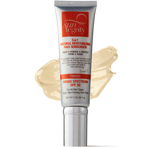 """Suntegrity """"5 in 1"""" Natural Moisturizing Face Sunscreen"""