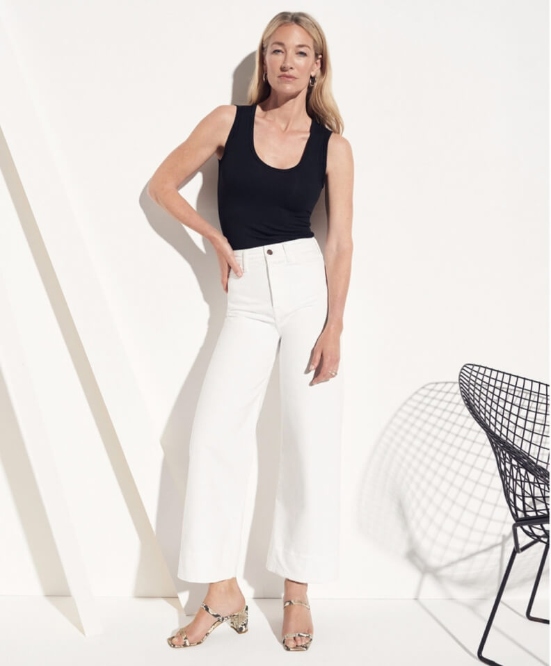 g. label white jeans