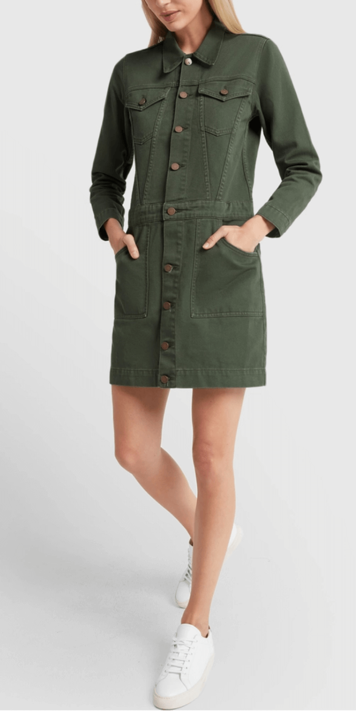 G. LABEL BISHOP JEAN-JACKET DRESS