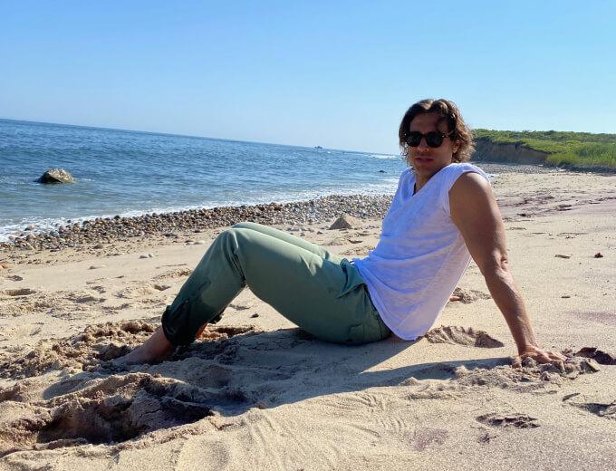 Brad on beach