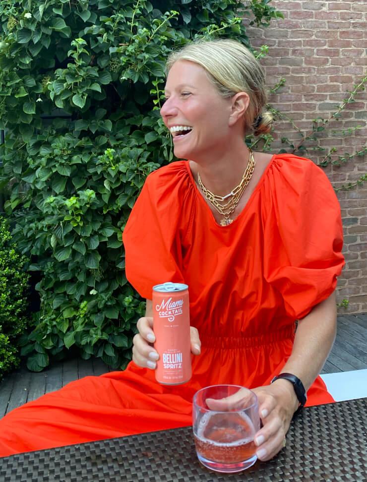Gwyneth and cocktail