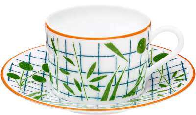 Hermès A Walk in the Garden tea cup and saucer